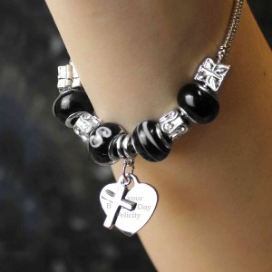 Cross Charm Bracelet - Galaxy - 18cm