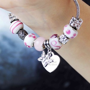 Butterfly & Heart Charm  - Candy Pink - 18cm
