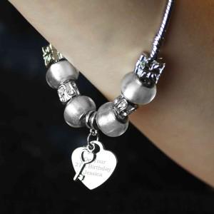 Key Charm Bracelet - Ice White  - 21cm