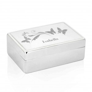Butterfly Swirl Rectangle Jewellery Box