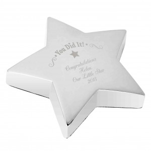 You Did It! Star Paperweight