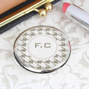 Houndstooth Compact Mirror