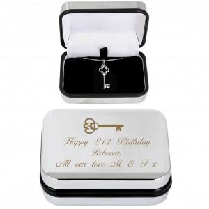 Ornate Key Necklace & Box