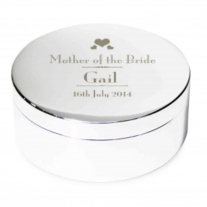 Decorative Wedding Mother of the Bride Round Trinket Box