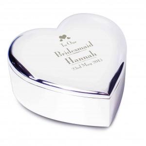 Decorative Wedding Bridesmaid Heart Trinket