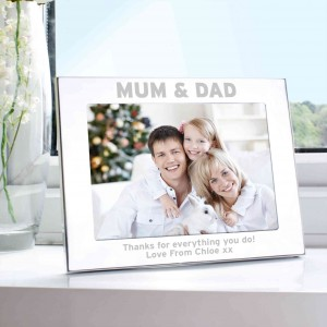Silver 5x7 Mum & Dad Photo Frame