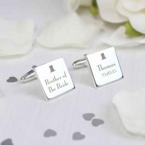 Decorative Wedding Any Role Square Cufflinks