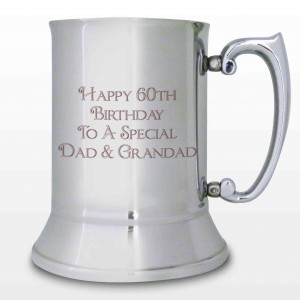 Stainless Steel Bold Message Tankard