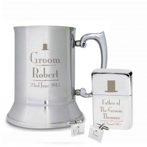 Decorative Wedding Father of the Bride Stainless Steel Tankard