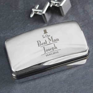 Decorative Wedding Best Man Cufflink Box