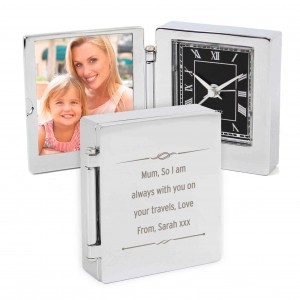 Scroll Photo Frame Travel Clock 4.5cm x 5cm