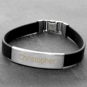 Male Rubber & Steel Bracelet