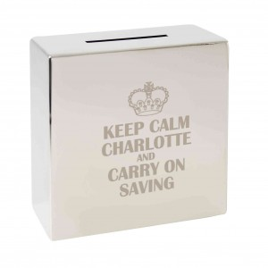 Keep Calm Square Money Box