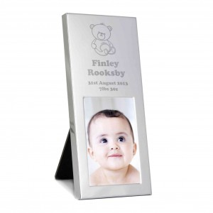 Teddy Small Silver 2x3 Photo Frame
