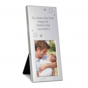 Stars Small Silver 2x3 Photo Frame