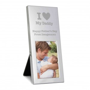 I Heart Small Silver 2x3 Photo Frame