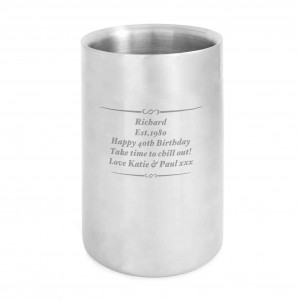 Any Message Stainless Steel Wine Cooler