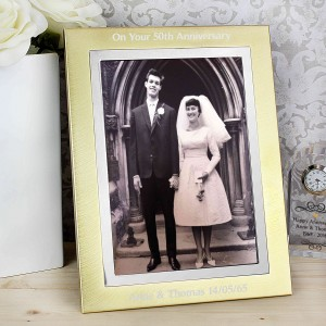 Gold Silver Brushed 5x7 Photo Frame