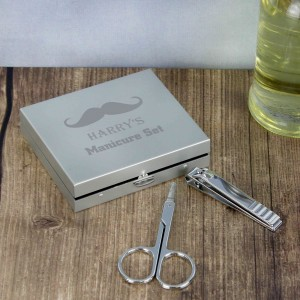 Moustache Manicure Set