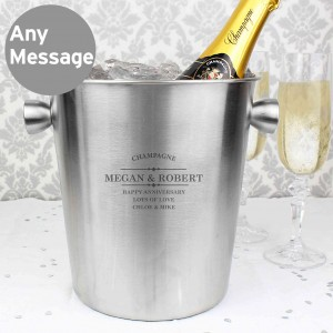 Diamond Stainless Steel Ice Bucket