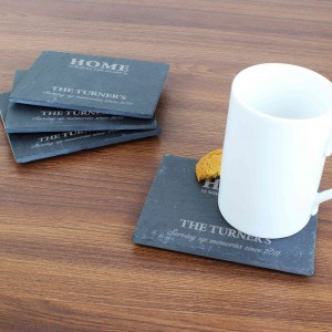 Home 4 Pack of Slate Coasters
