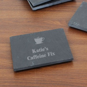 Hot Drink Motif Single Slate Coaster