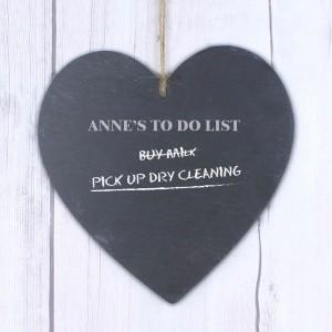 Chalk Board Large Heart Slate