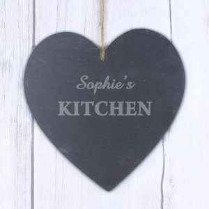 Kitchen Large Slate Heart Decoration