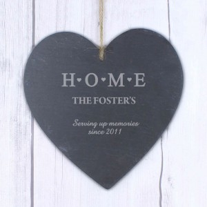 HOME Large Slate Heart Decoration