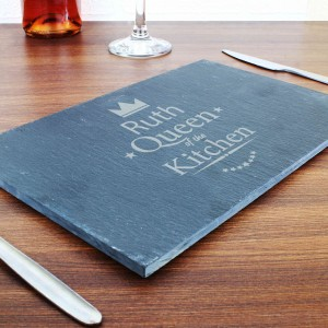 Queen of the Kitchen Slate Cheeseboard