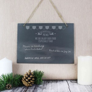 Menu Hanging Slate Sign