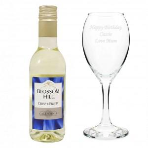 White Wine & Wine Glass Set