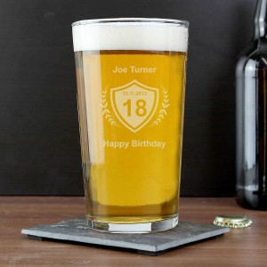 Age Crest Pint Glass