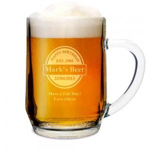 Established Beer Label Tankard