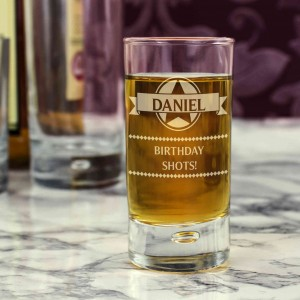 Diamond Bubble Shot Glass