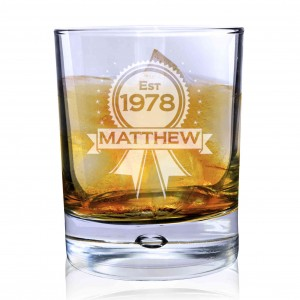 Established Rosette Bubble Whisky Glass