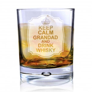 Keep Calm Bubble Glass
