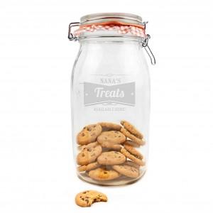 Retro Label Large Glass Kilner Jar