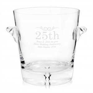 Glass Number Frame Ice Bucket