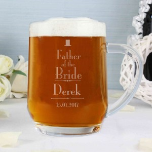 Decorative Wedding Father of the Bride Tankard