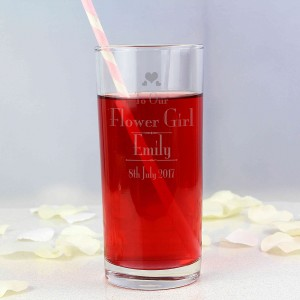 Decorative Wedding Flower Girl Hi Ball Glass