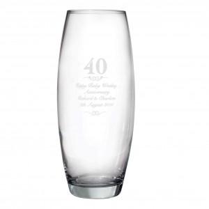40 Years Bullet Vase