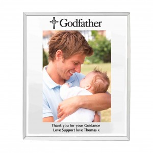 Mirrored Godfather Glass Photo Frame 5x7