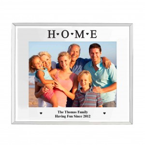 Mirrored Home Glass Photo Frame 5x7