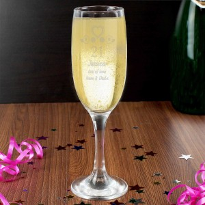 Birthday Craft Flute Glass