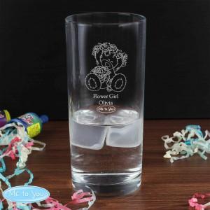 Me To You Engraved Wedding Girl Hi Ball Glass