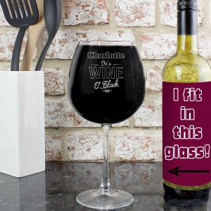Wine O Clock Bottle of Wine Glass