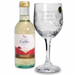 White Wine & Crystal Goblet Set