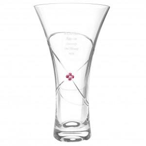 Large Infinity Vase with Ruby Swarovski Elements
