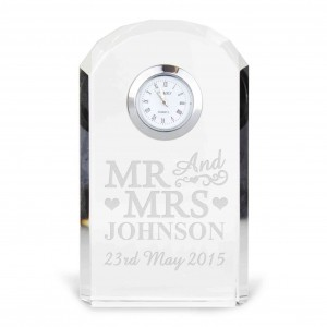 Mr & Mrs Crystal Clock